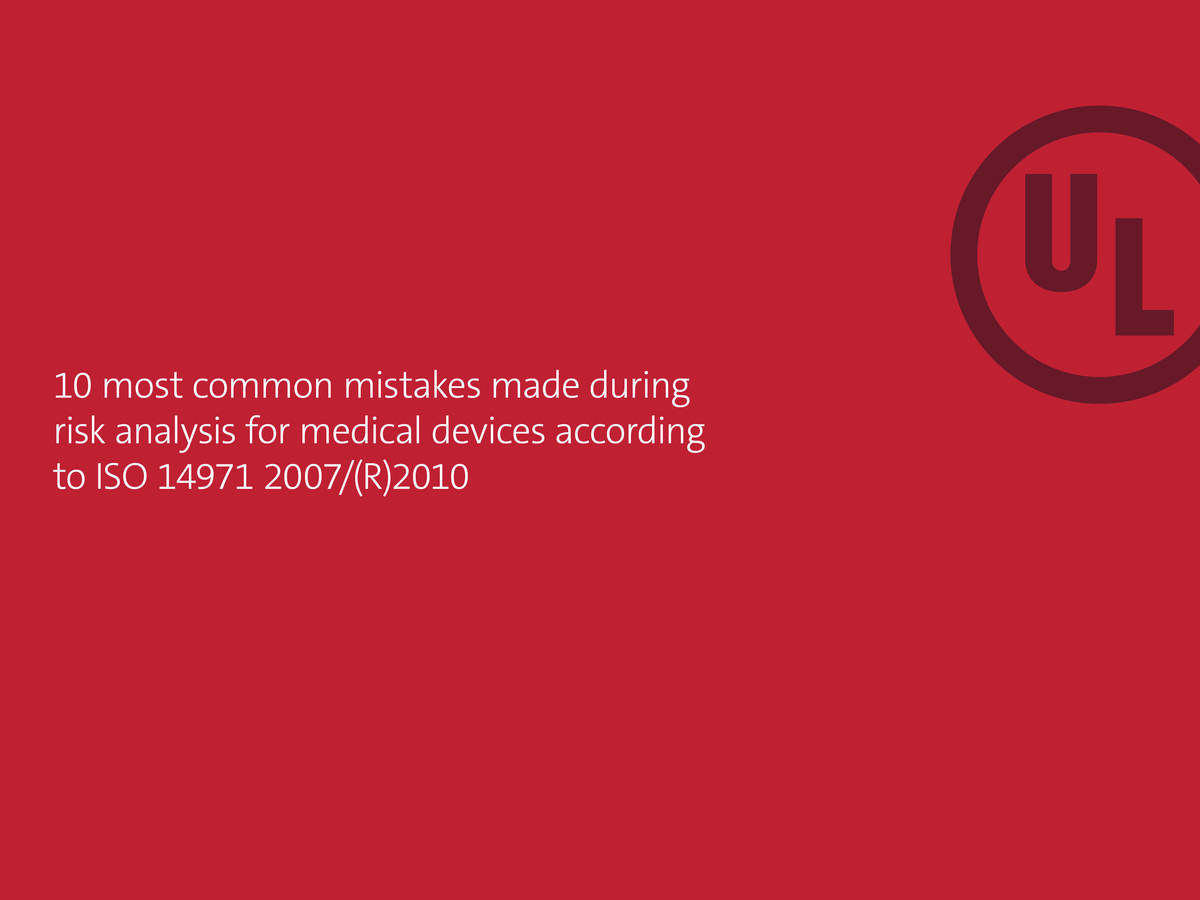 10 most common mistakes made during risk analysis for medical devices