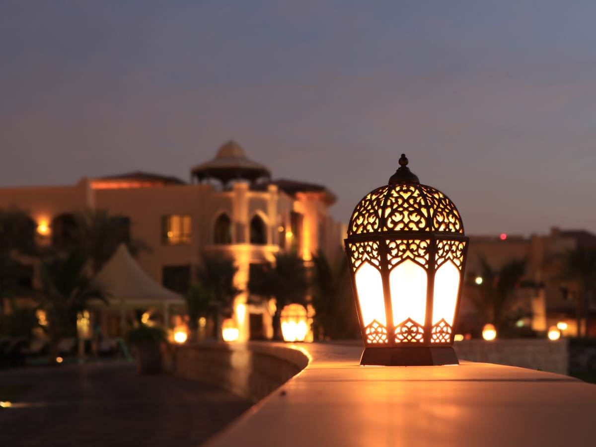 Arabesque Lantern at Night