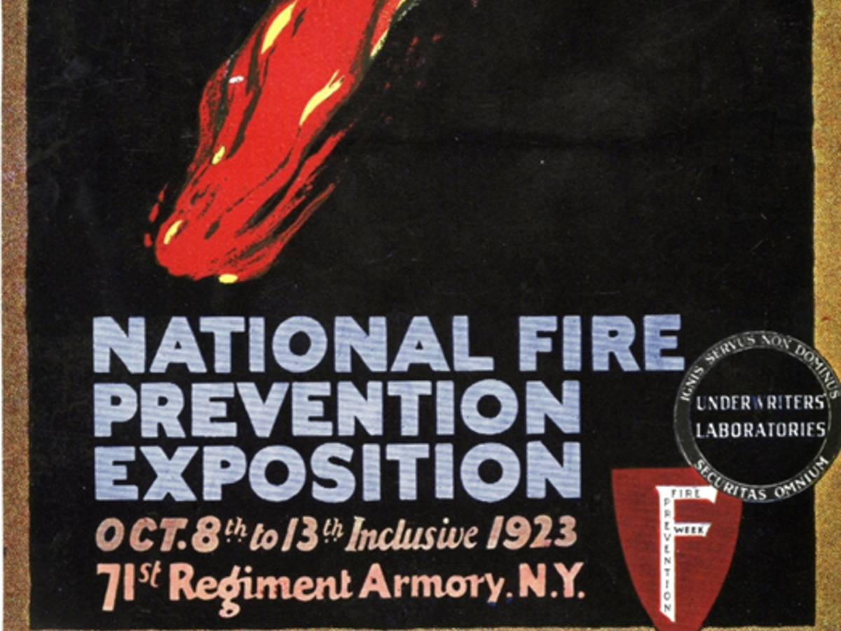 A 1923 fire prevention week poster