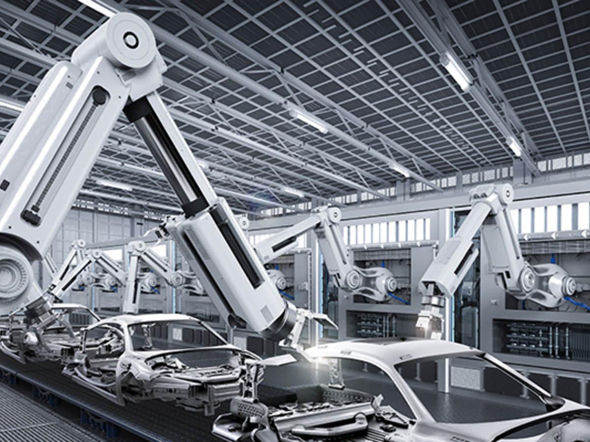 Robot at Car Factory