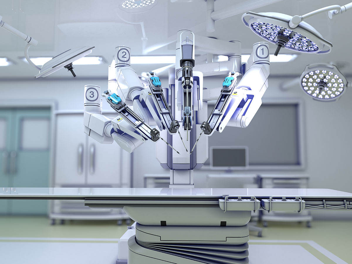 Medical robots on an operating table