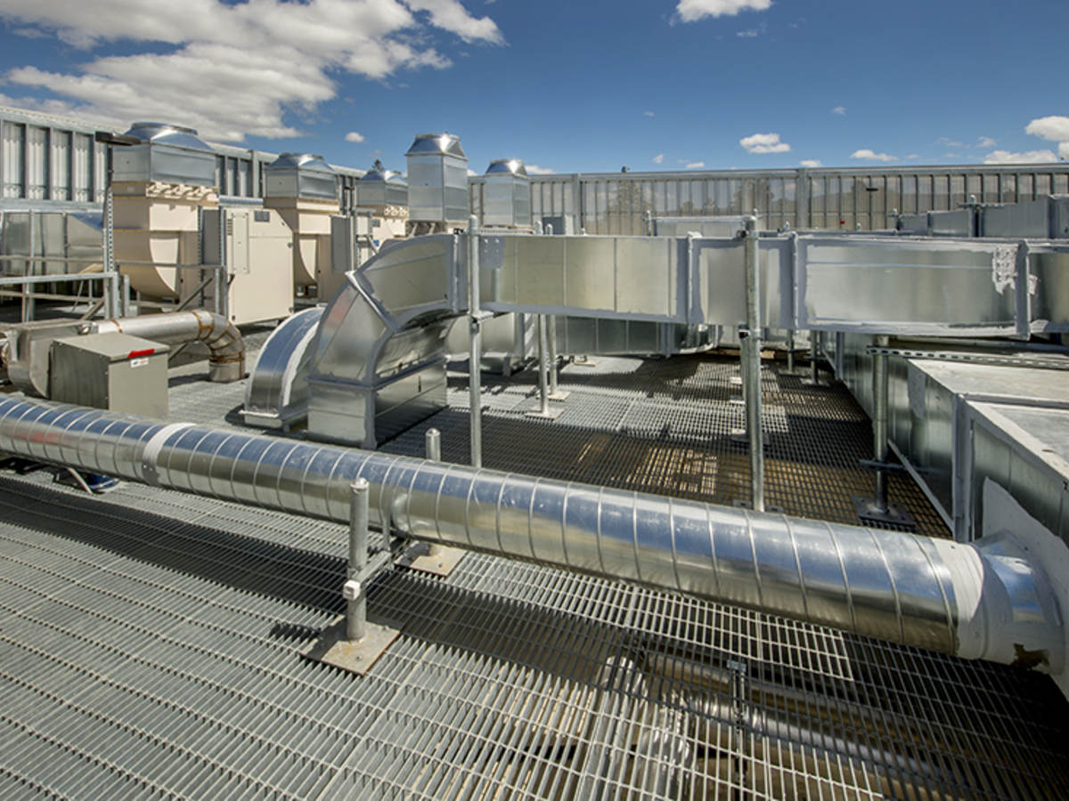 Roof top air ducts