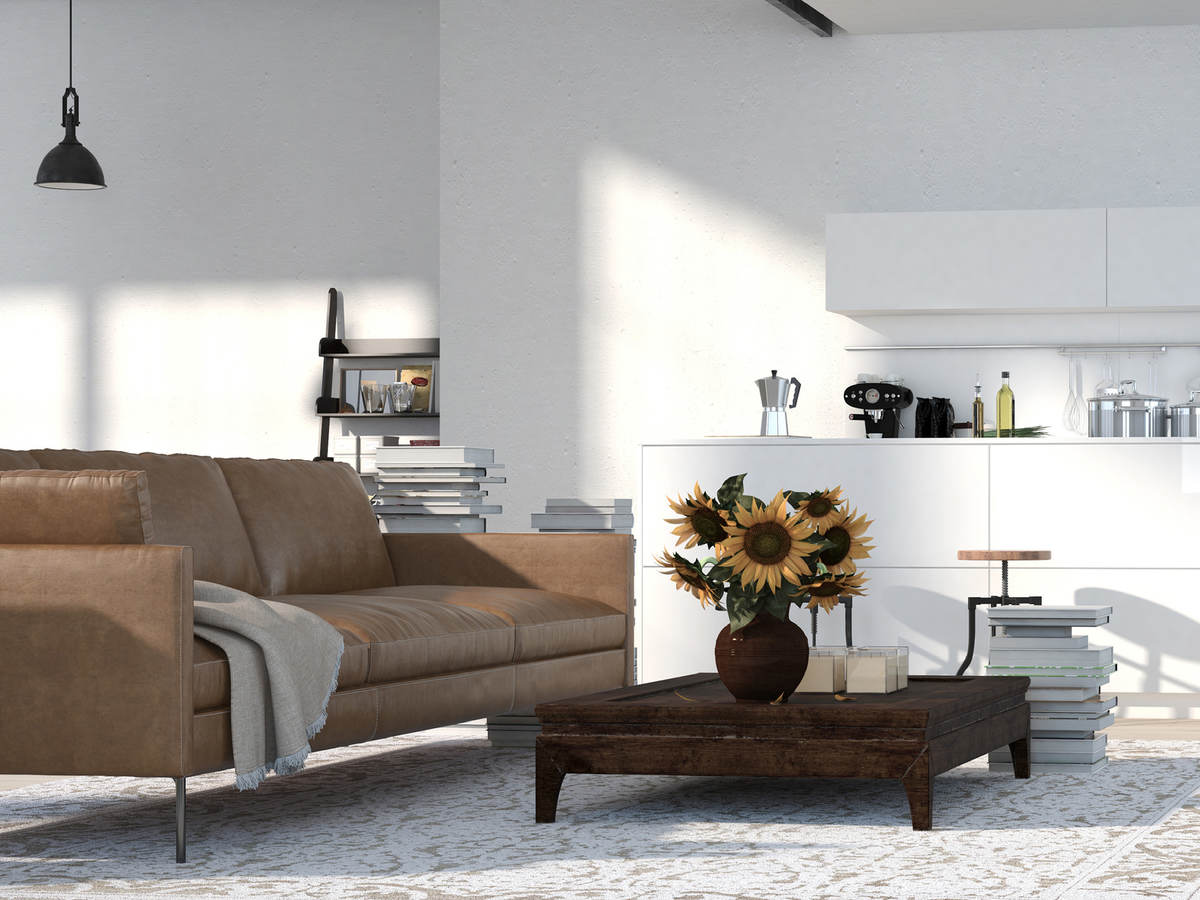 Photo of a beautiful living room with furniture