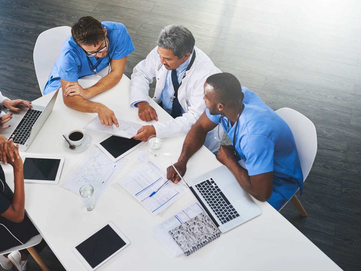 Healthcare officials meeting