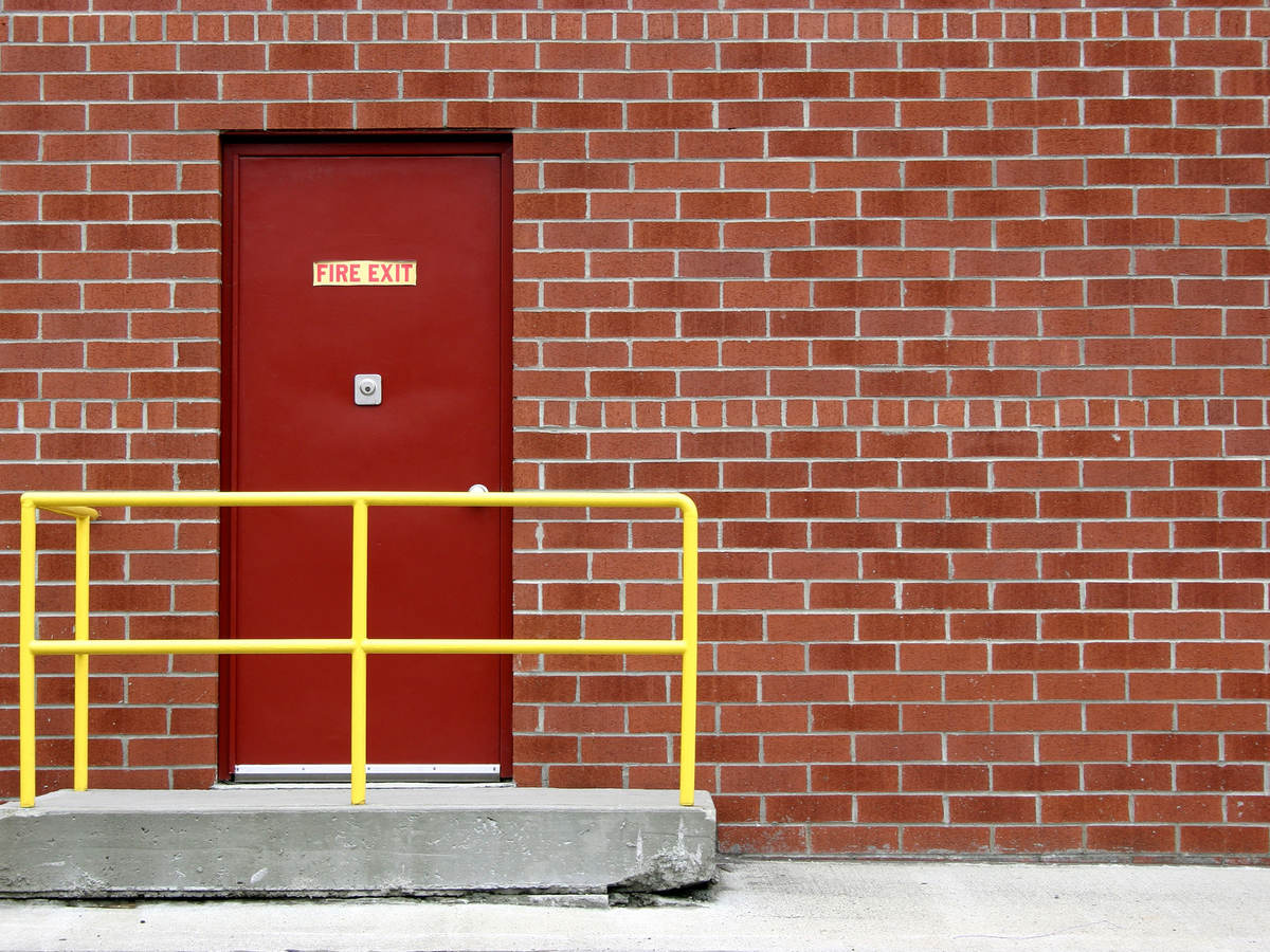 photo of a fire door