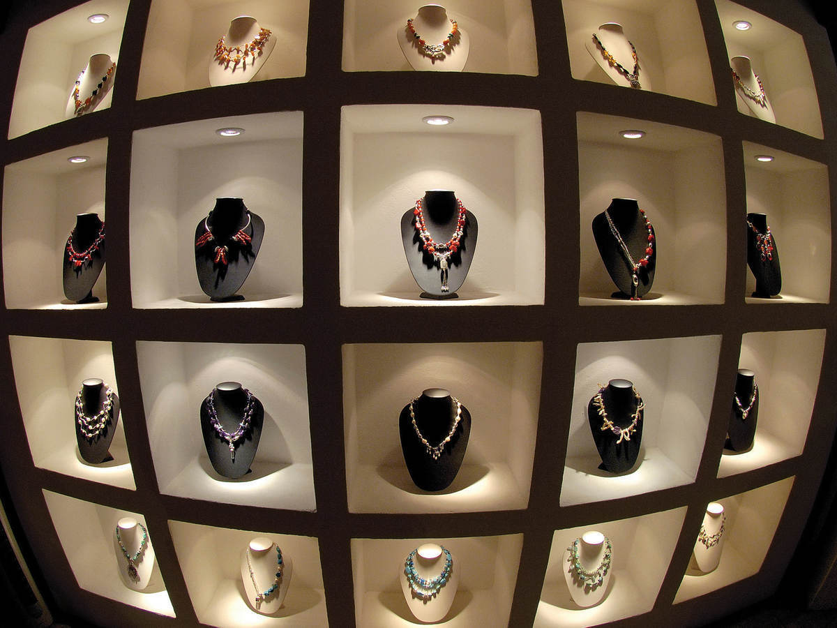 A jewelry display case.