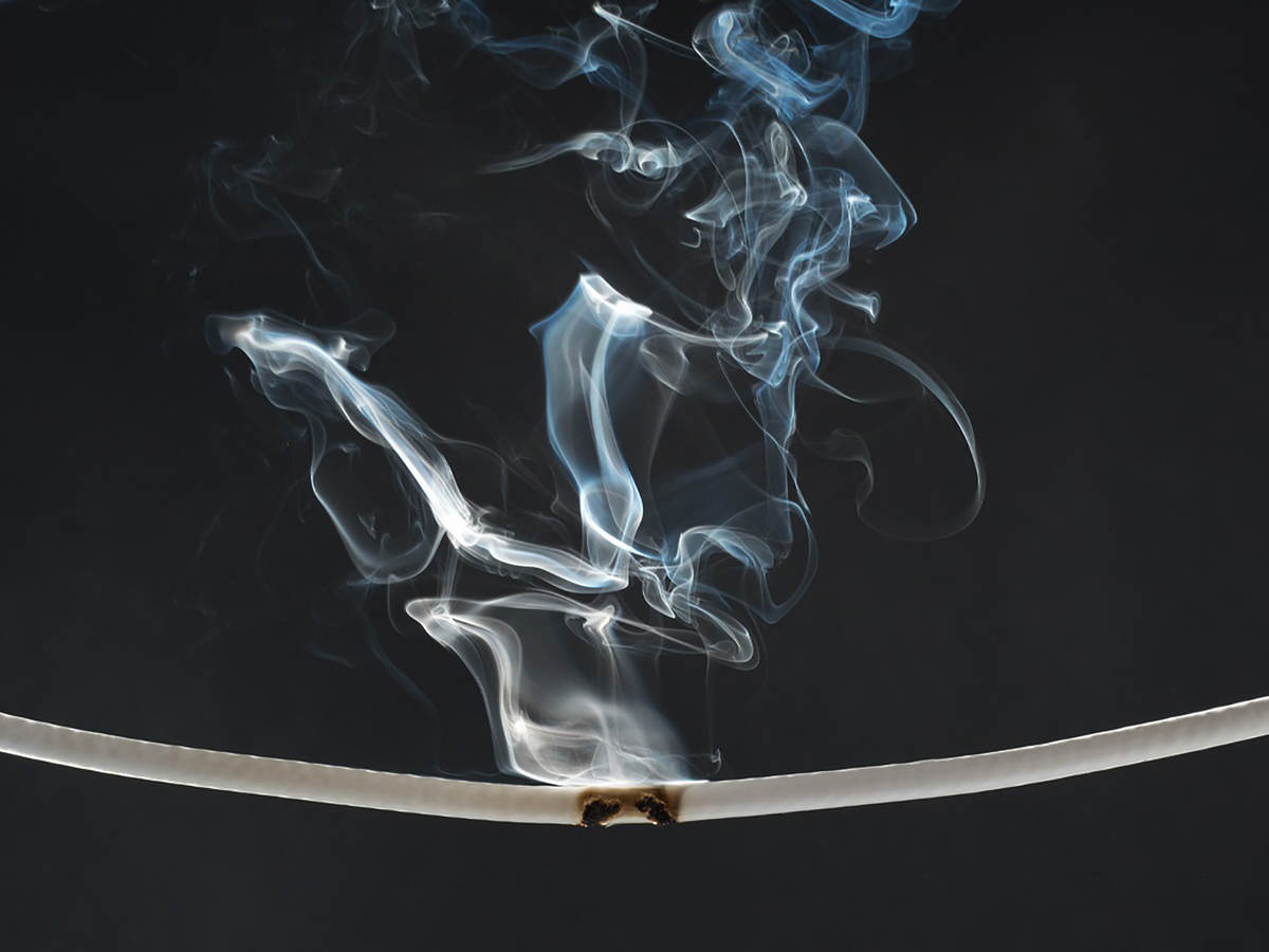 Photo of a burning cable