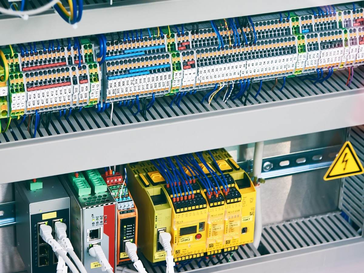 Control panel electrical components