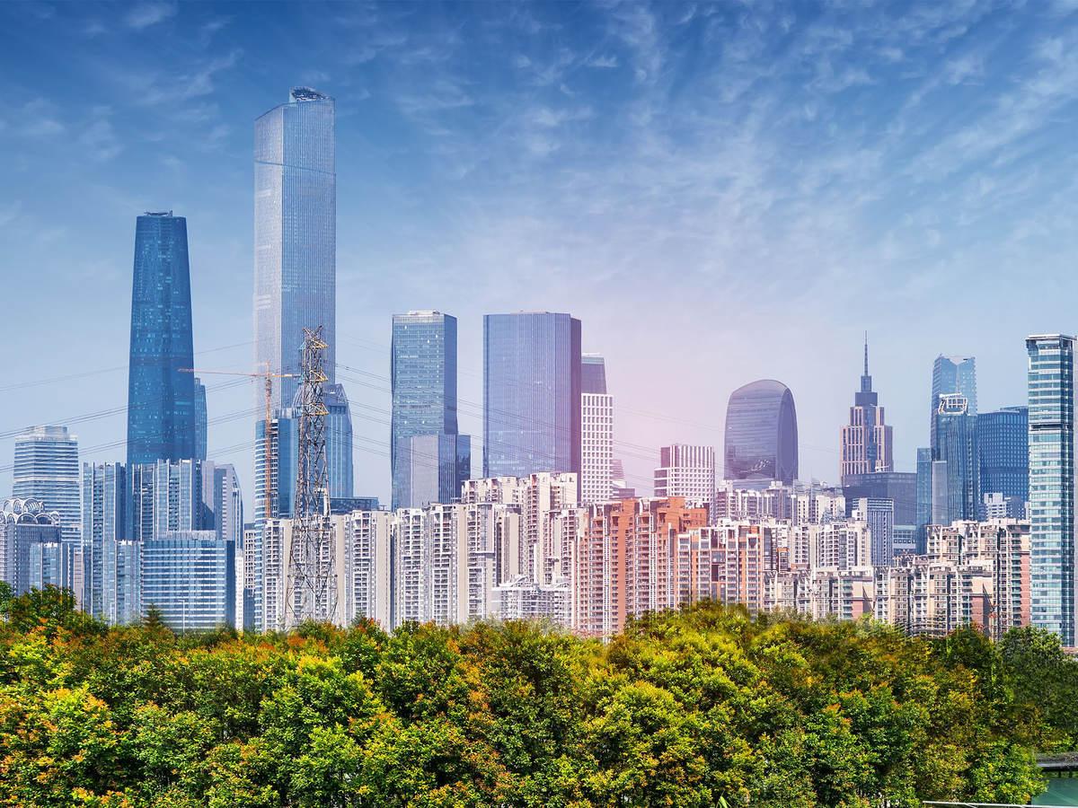 Photo of a city skyline