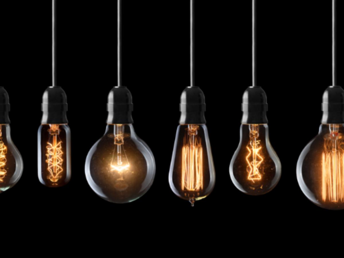 Glowing light bulbs, illumination