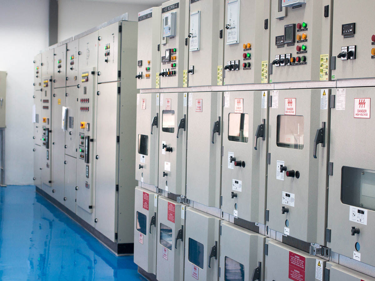 Row of control panels