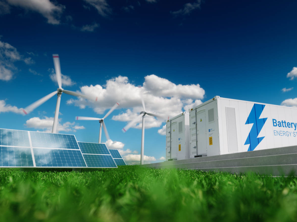 Wind and solar energy storage and electrical transformers