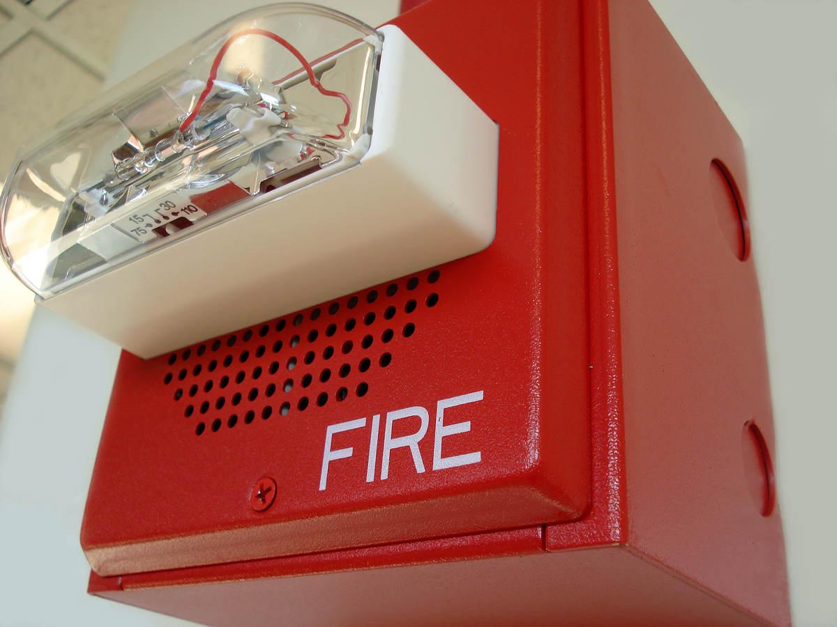 Emergency fire alert light