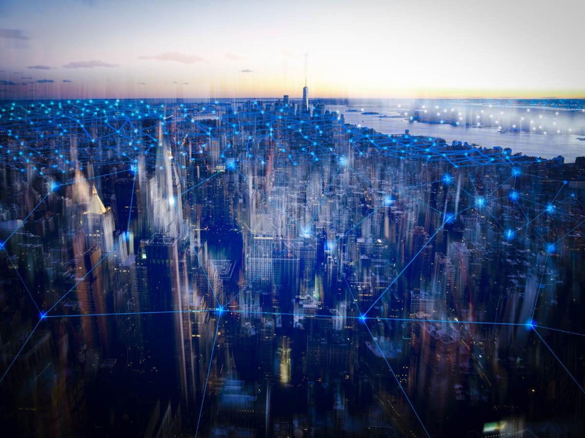 Connected city landscape