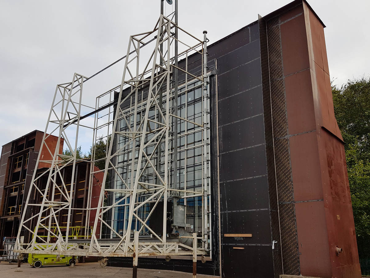 Building envelope mock-up testing rig