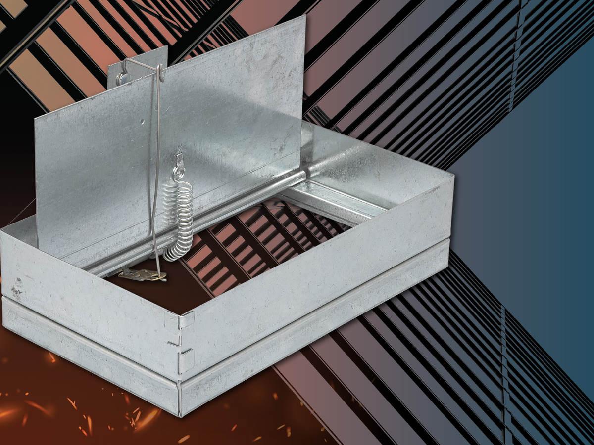 Dynamic ceiling damper by Metal-Fab Inc.