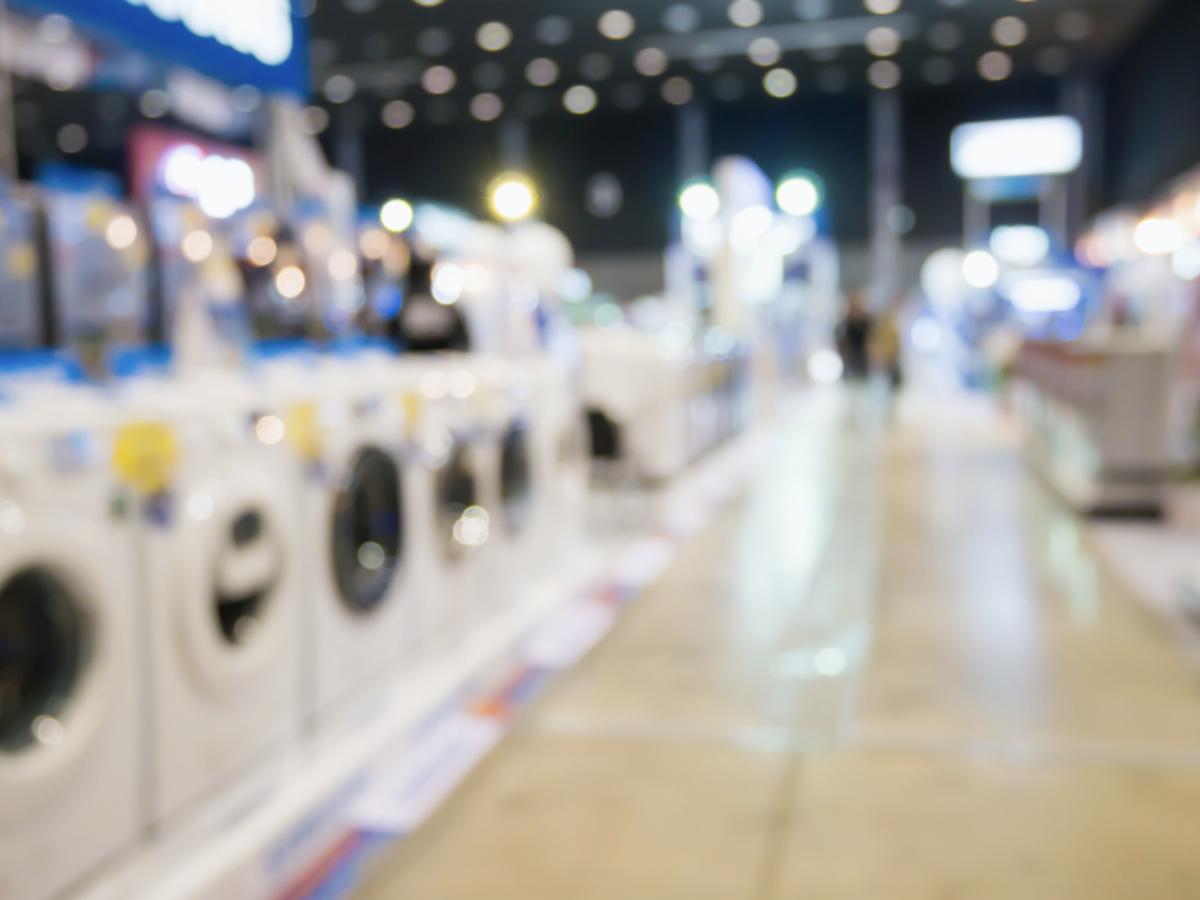 Washing machines in retail