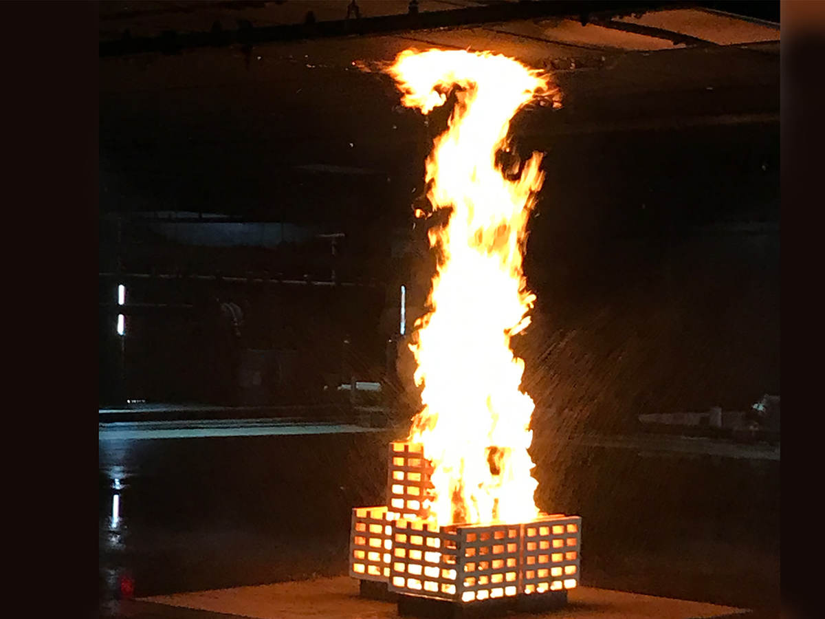Fire suppression test for antifreeze solution