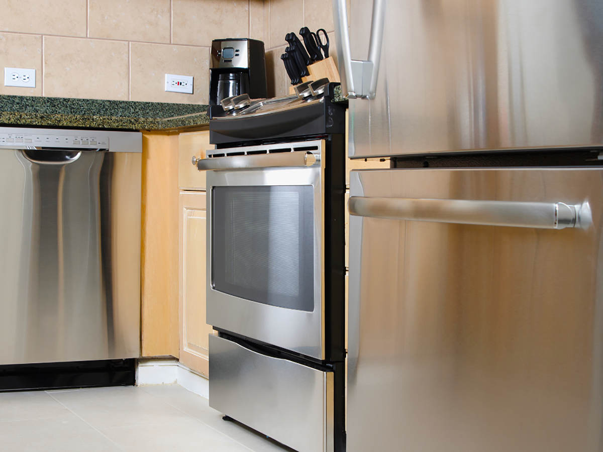 Home stainless-steel appliances