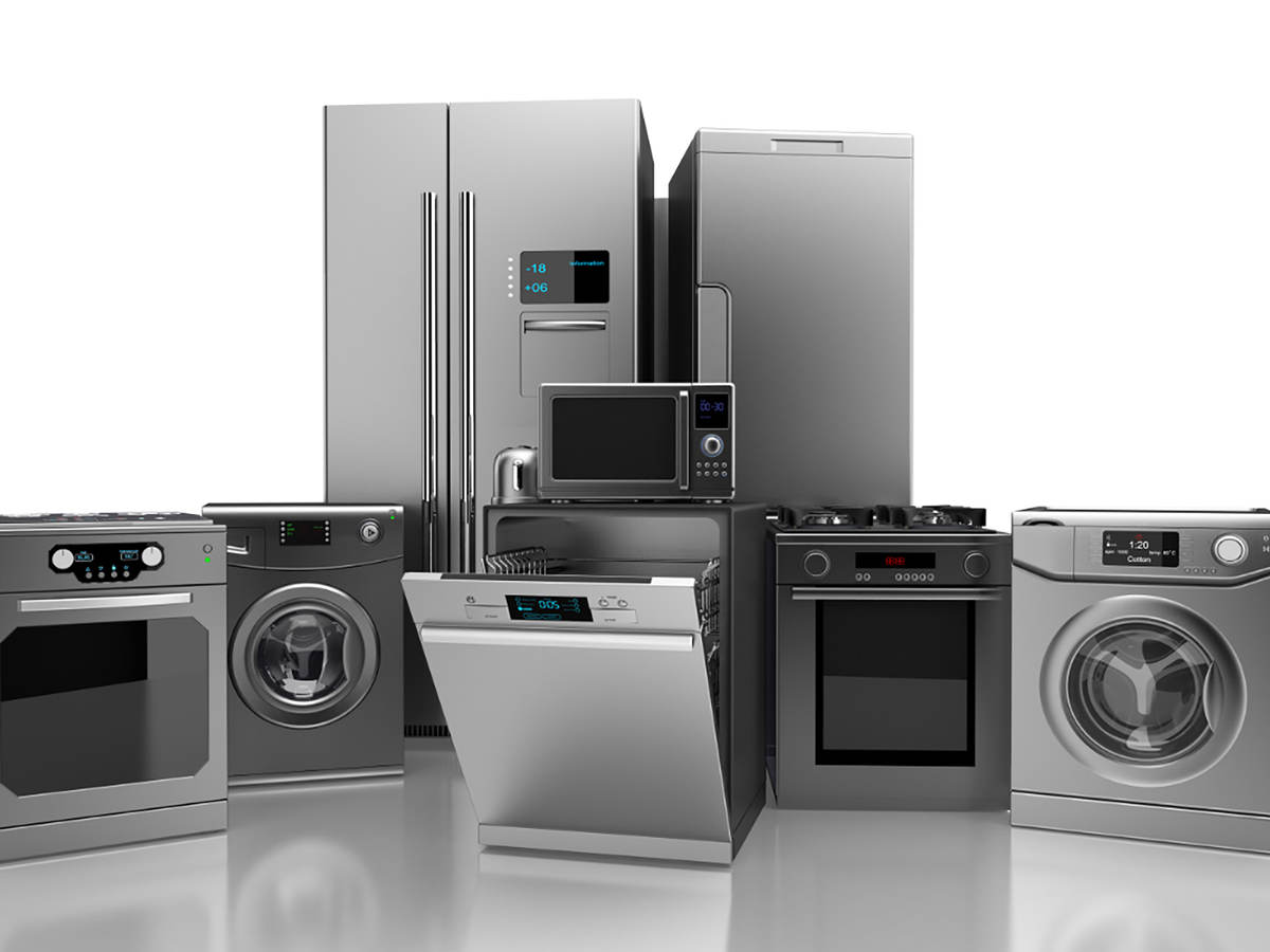 Home appliances all together