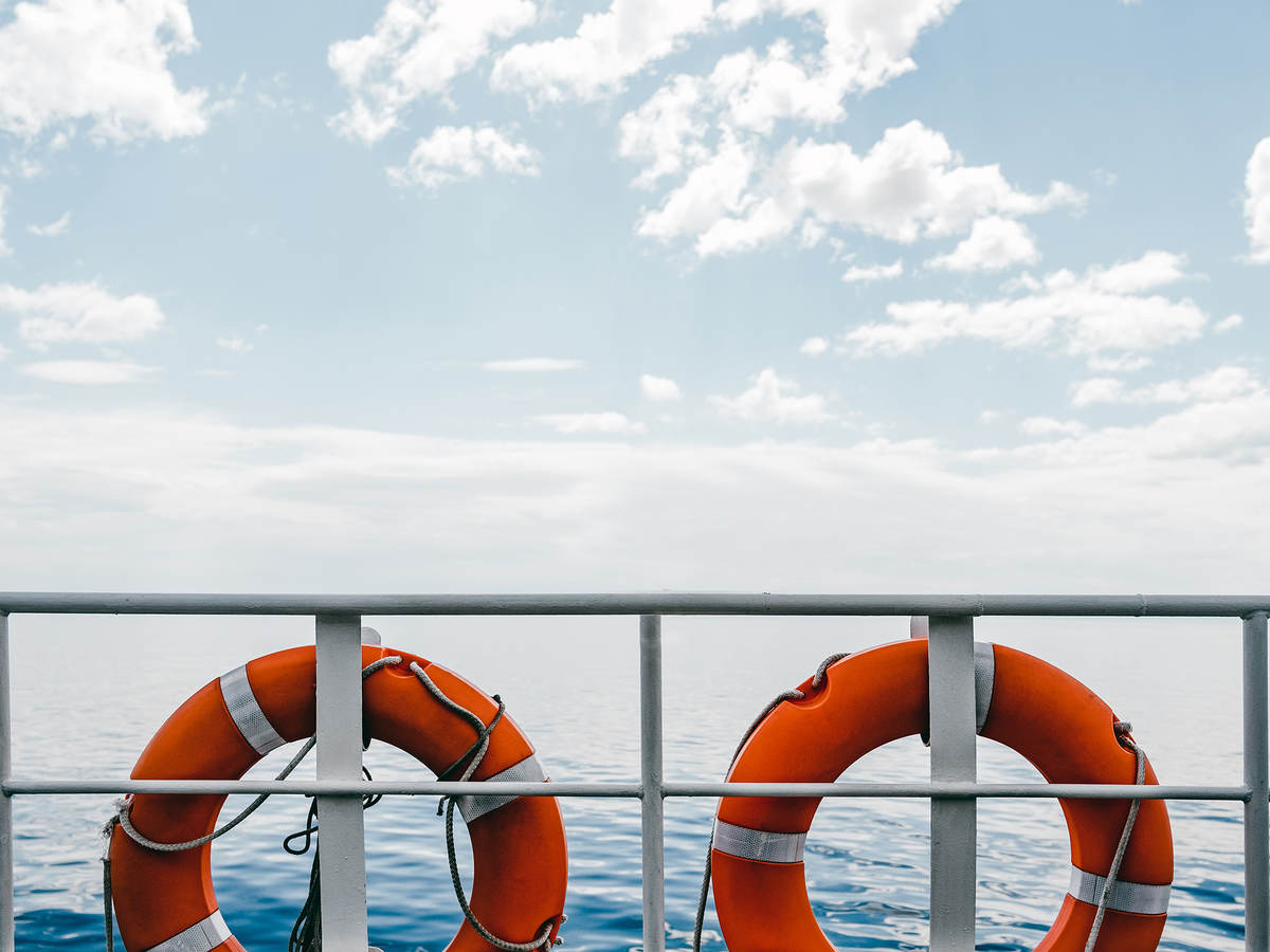 Life buoys on a boat