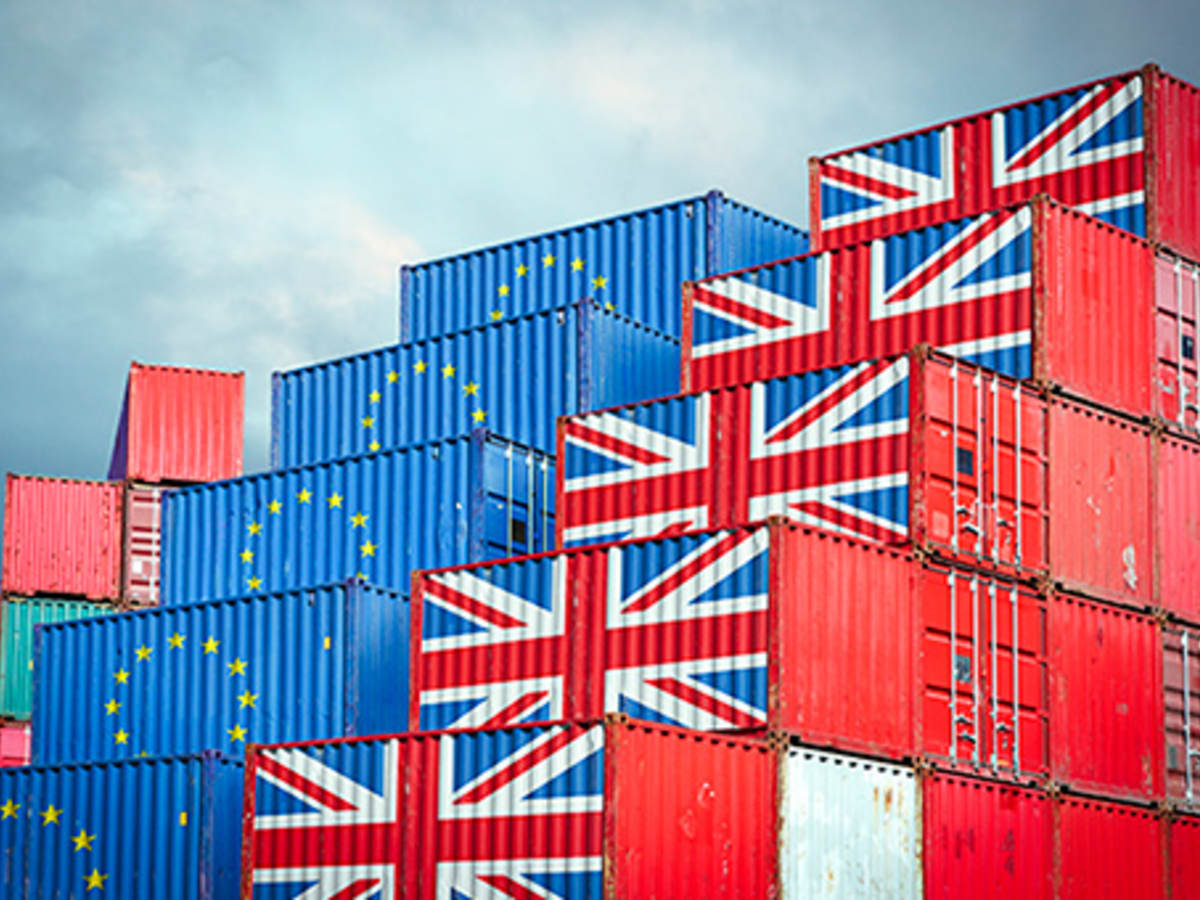 Shipping Containers with flag