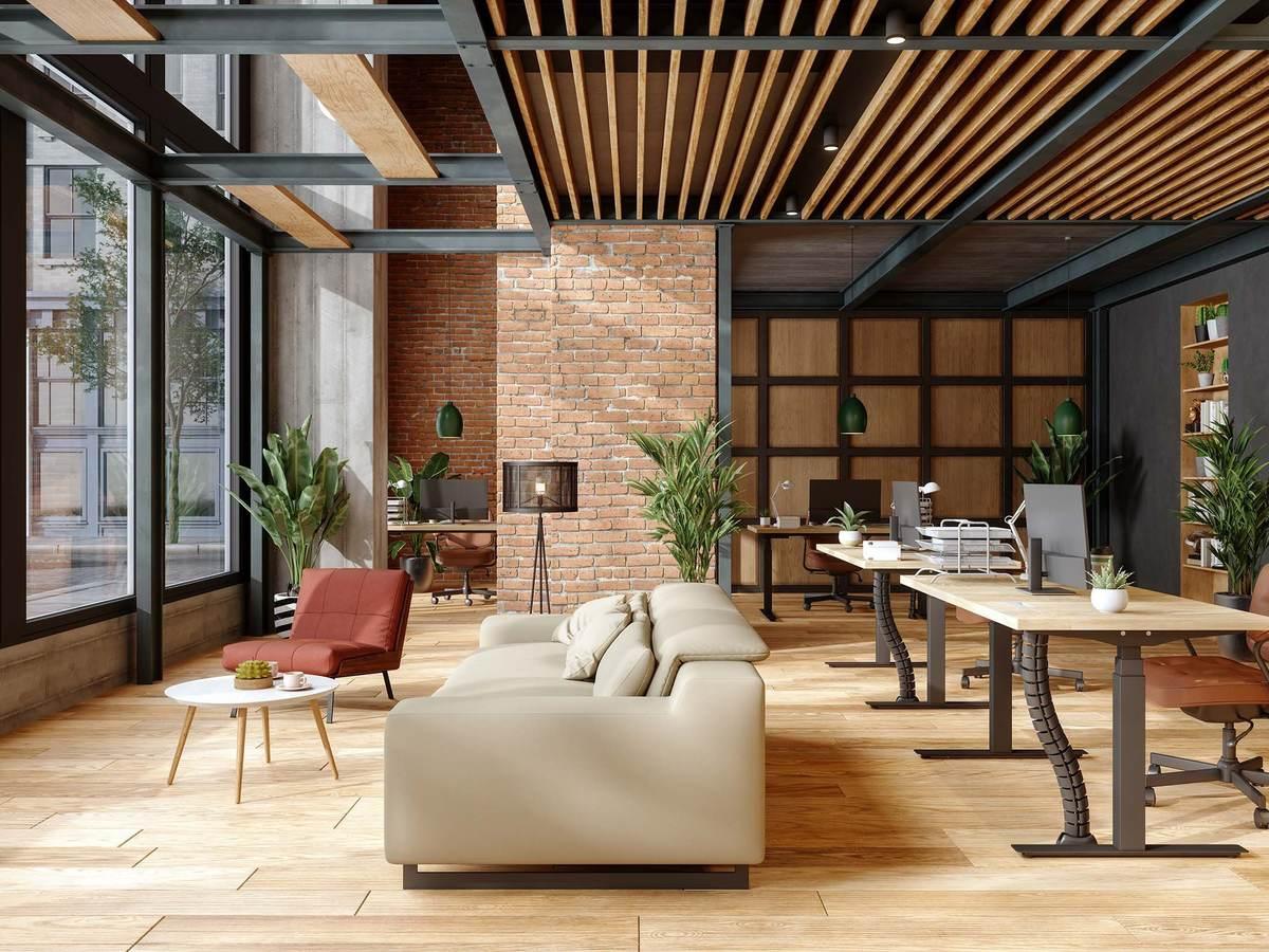 Modern furniture in an open air environment