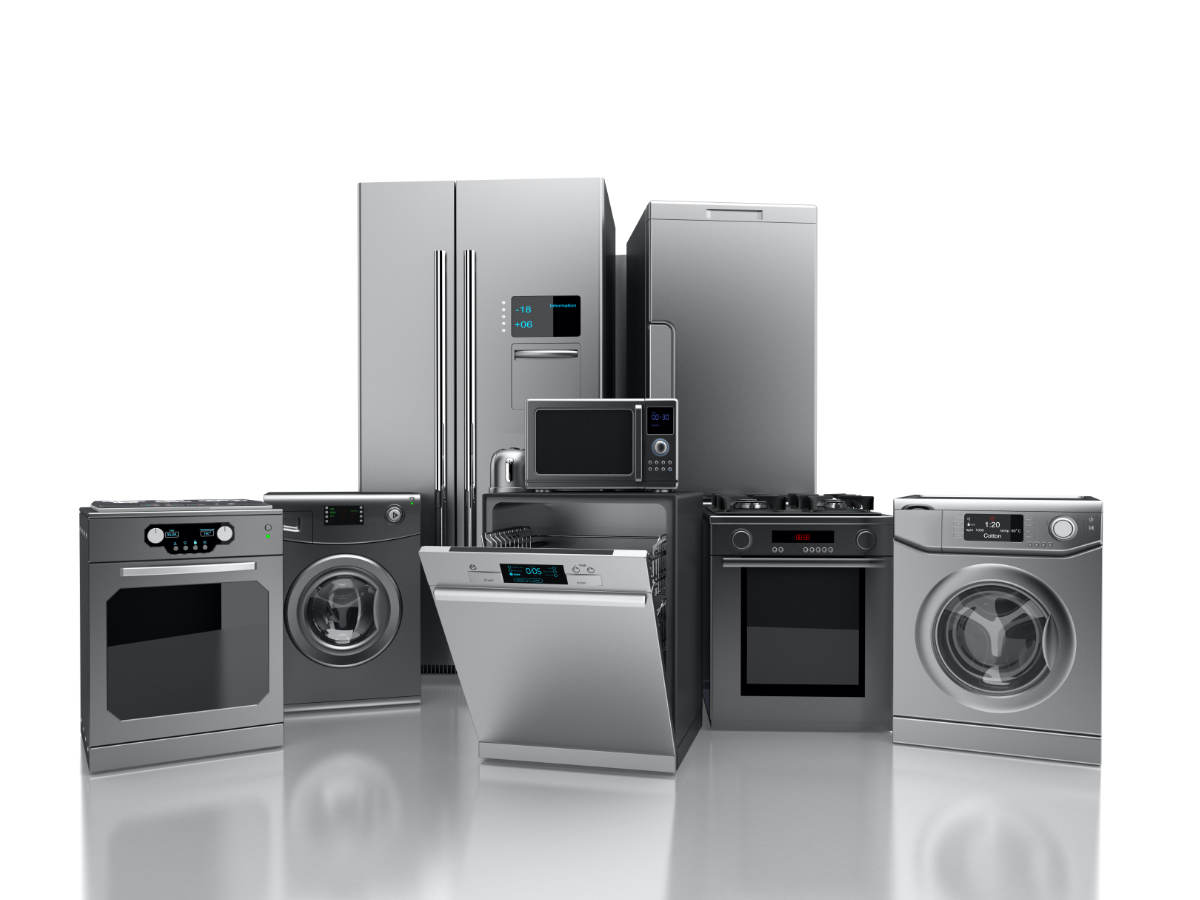 Variety of household appliances.