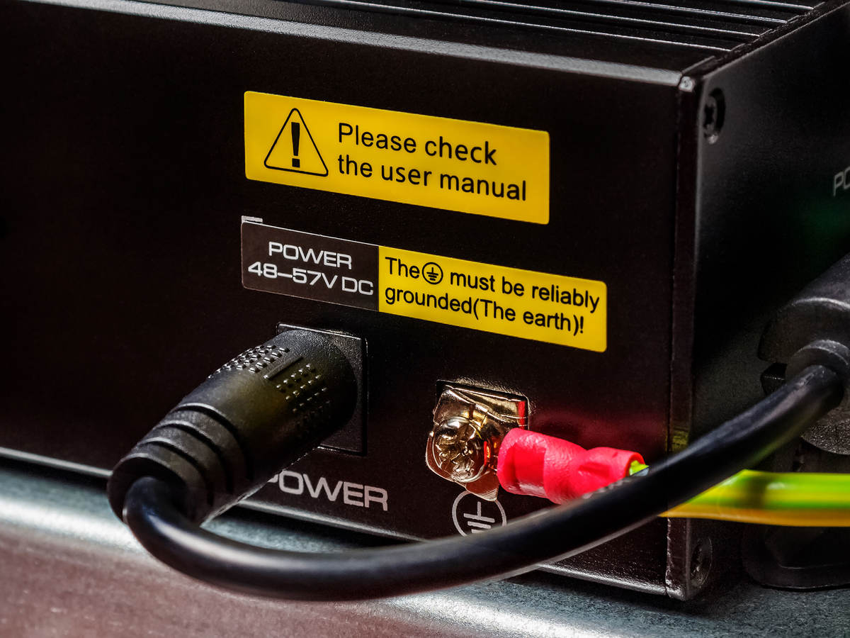 Marking and labeling on the back of an electrical component