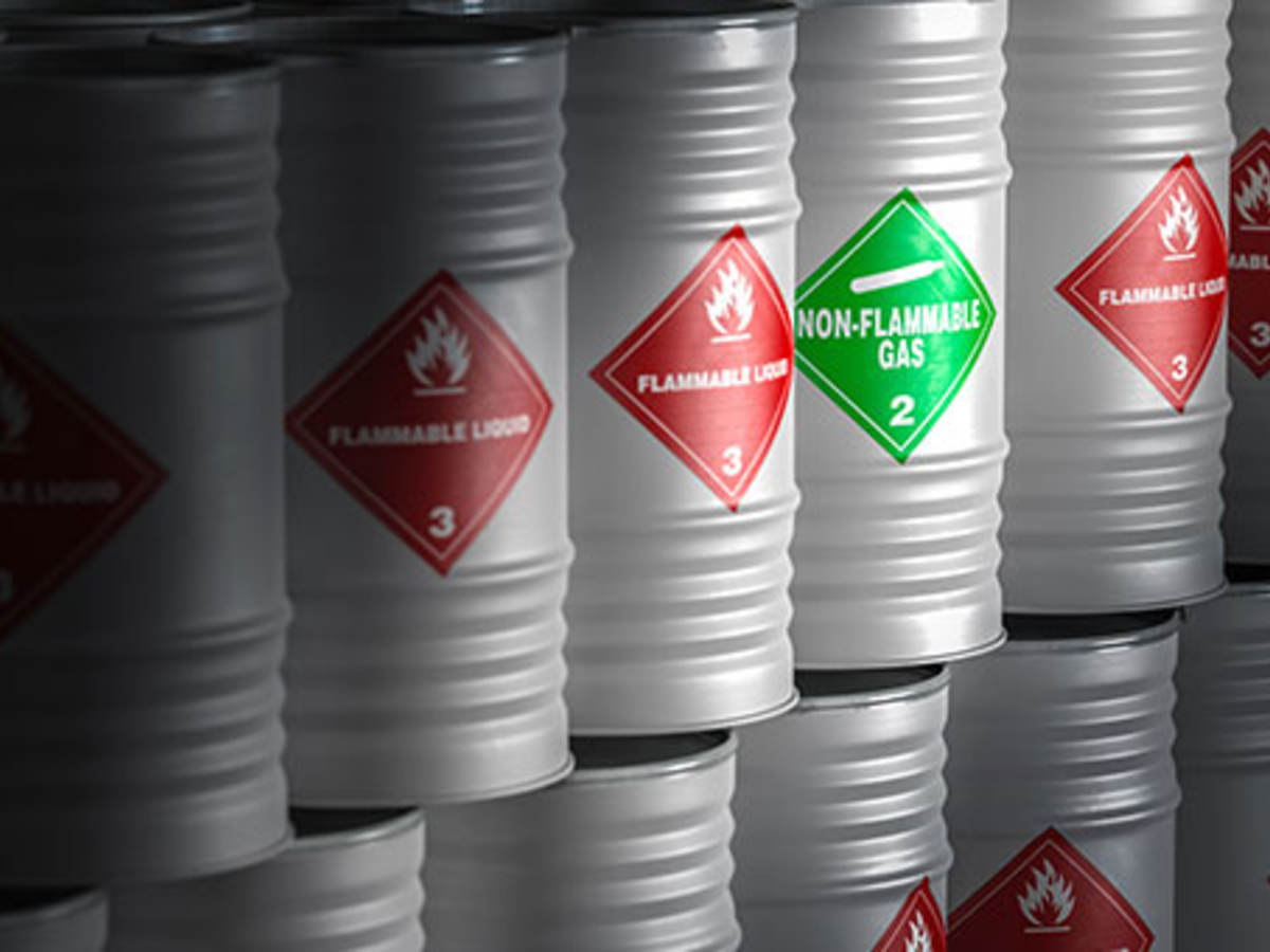 Flammable and non-flammable barrels