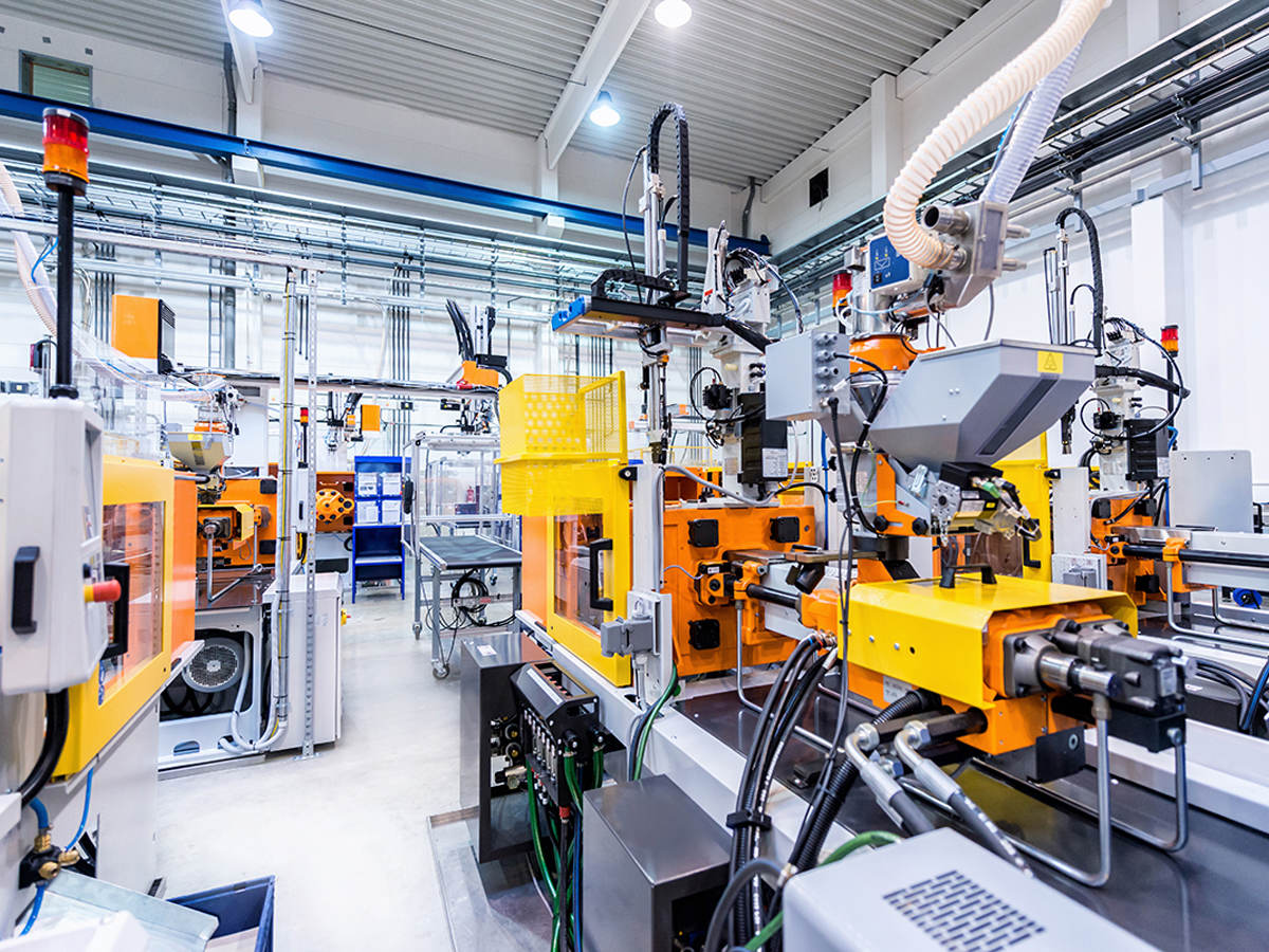 Industrial machine in the factory environment