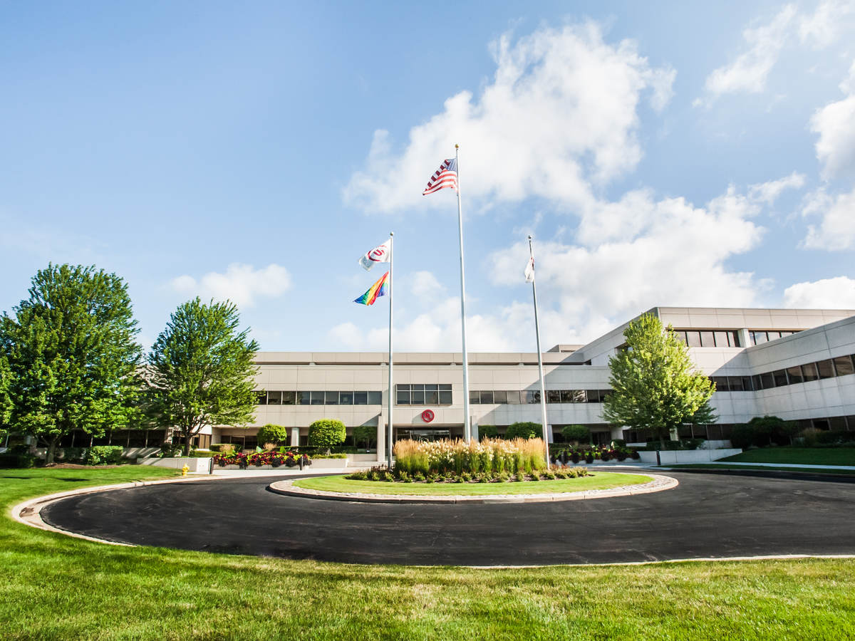 Pride flag at UL headquarters in Northbrook, IL.