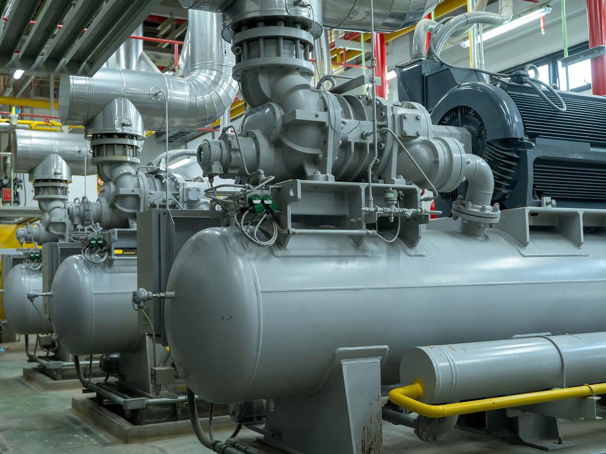 Boiler room for steam production