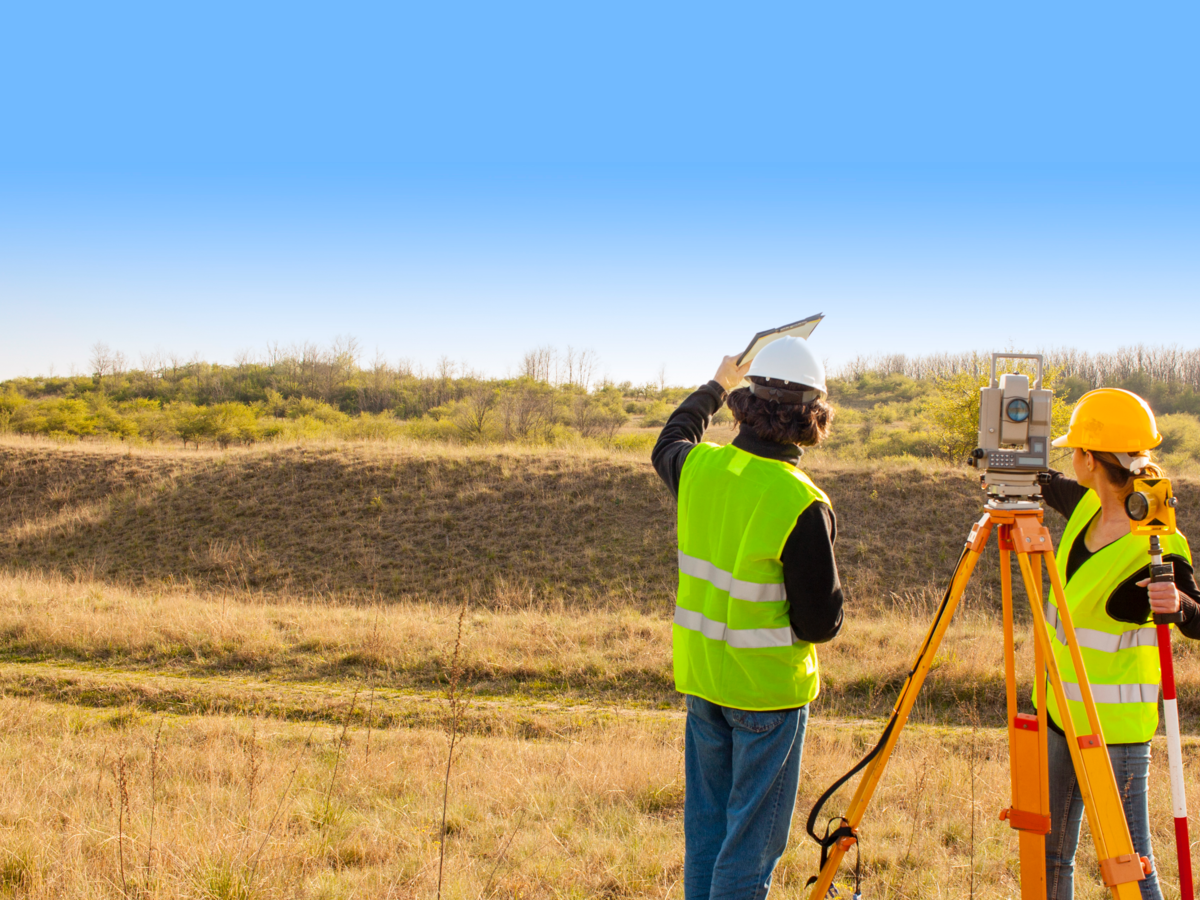 Employees performing an environmental assessment