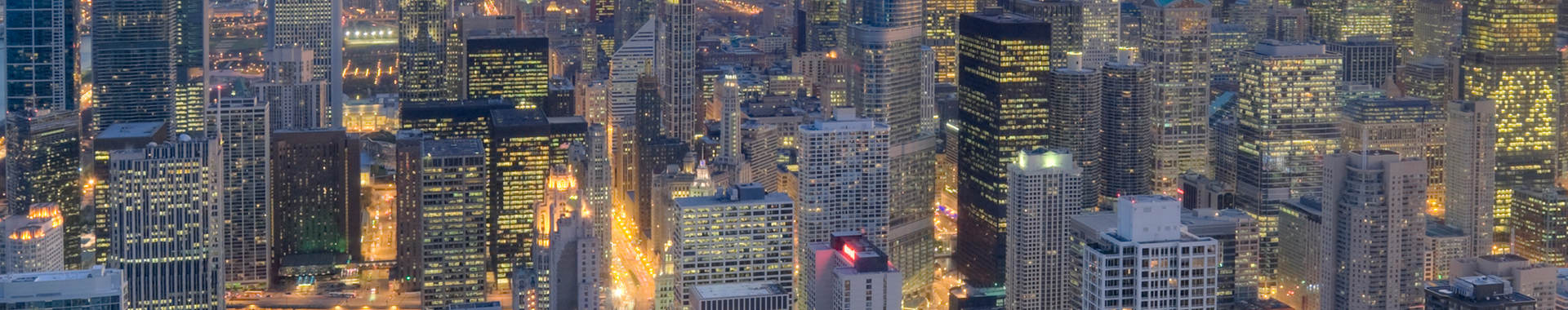 Aerial photo of downtown Chicago