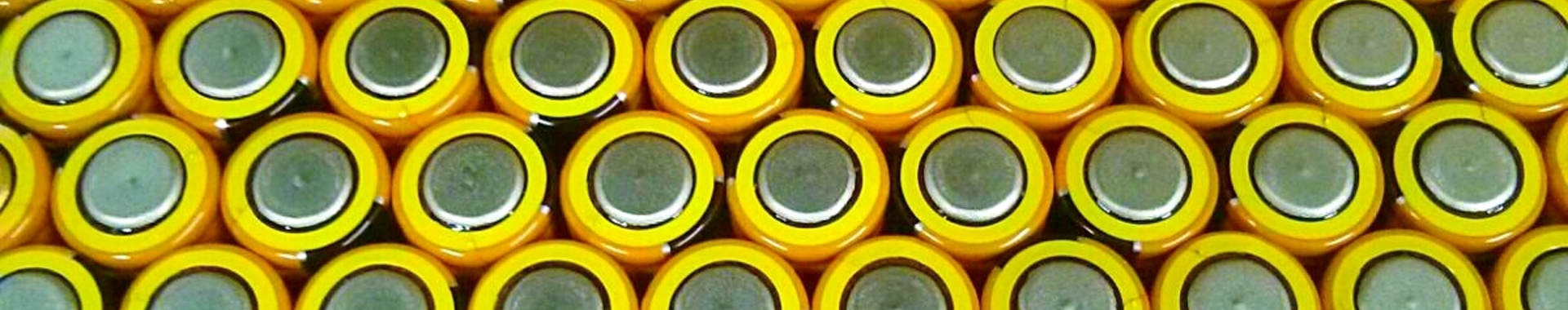 Close up of the bottoms of batteries