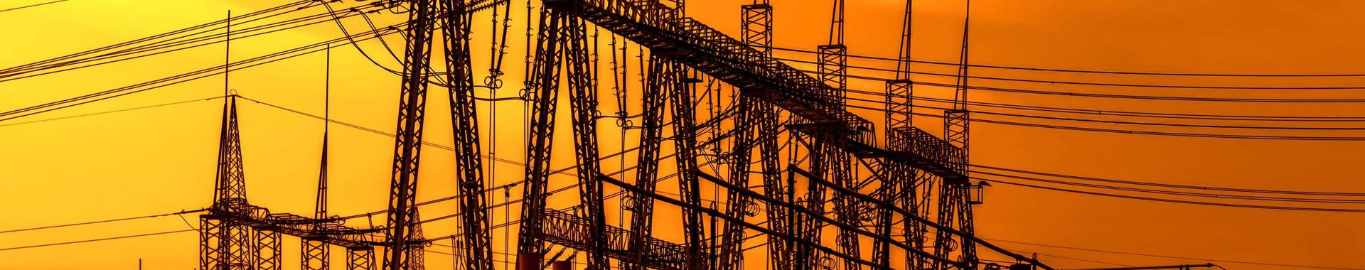 Power stations at dusk