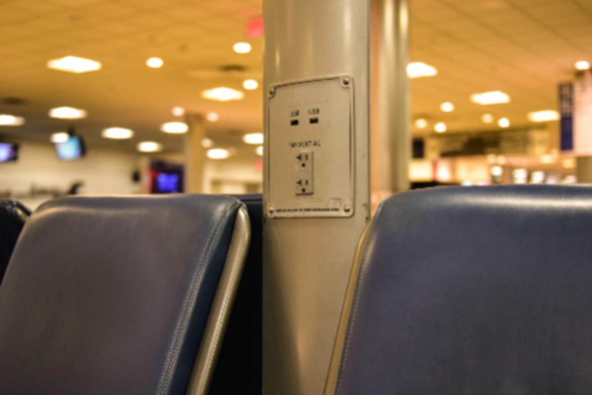 Multioutlet assemblies at an airport