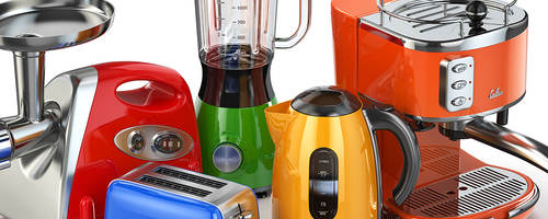 Assorted small kitchen appliances